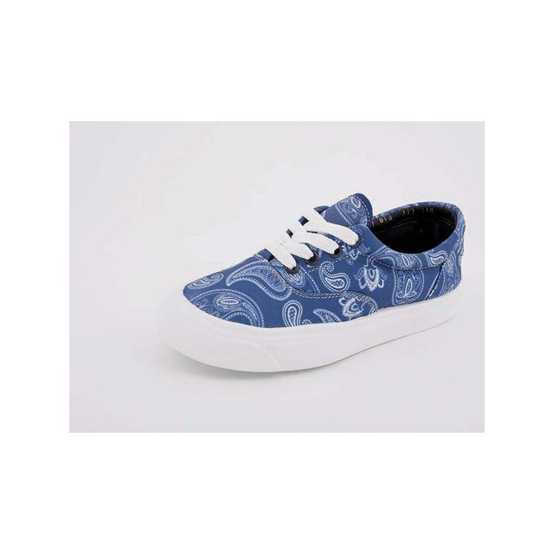 Sneakers azules estampados 018322