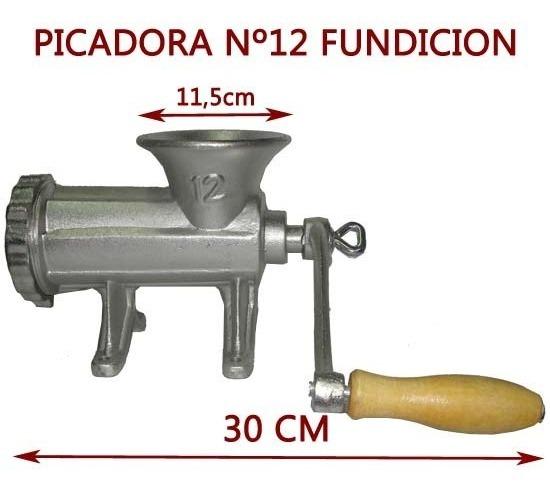 Picadora De Carne Nº 12 Fundicion Hierro Con Manija Manual