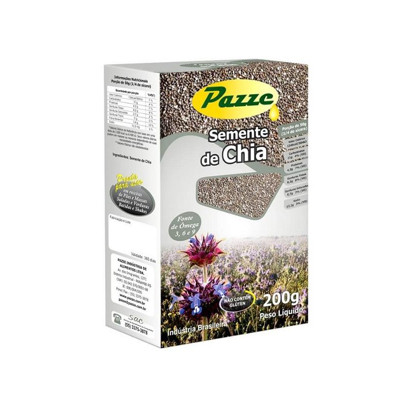 Semente de Chia - 200g - Pazze