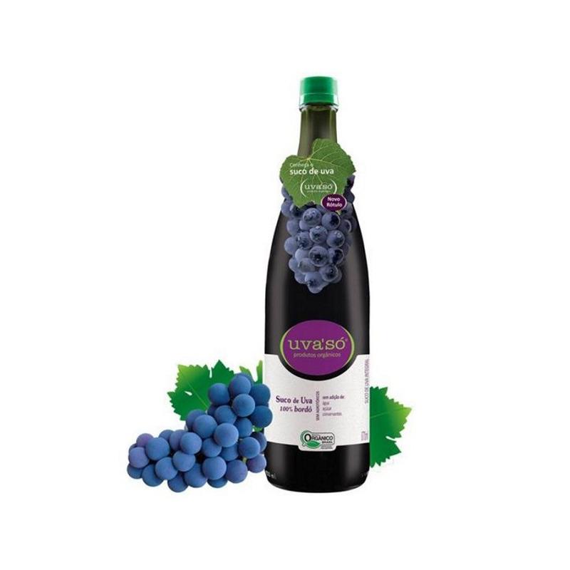 Suco de Uva Organico 100% Bordo 870ml - Uva'So