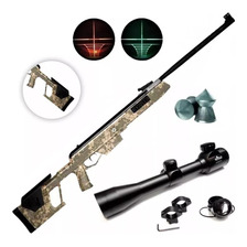 Rifle Aire Comprimido Apolo 1000 Nitro Alto Poder + Mira Luz
