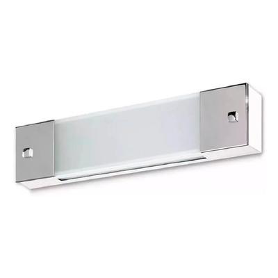 Aplique 2 Luces Moderno Baño Apto Led E-27 Con Cromo Gam
