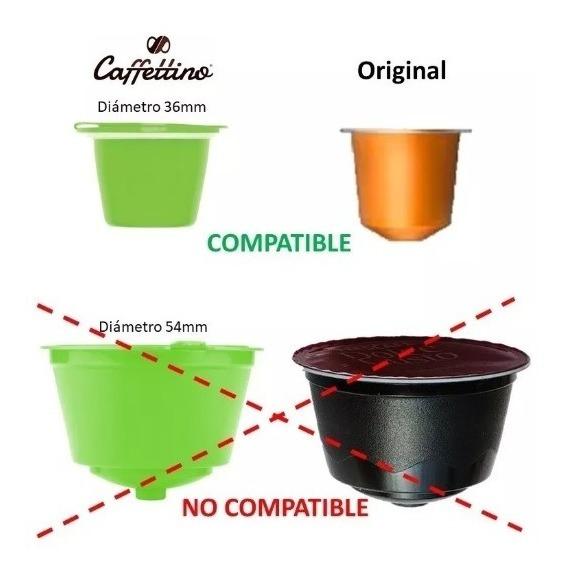 Capsulas Recargables Dolce Gusto X4 Caffetino Ecologicas