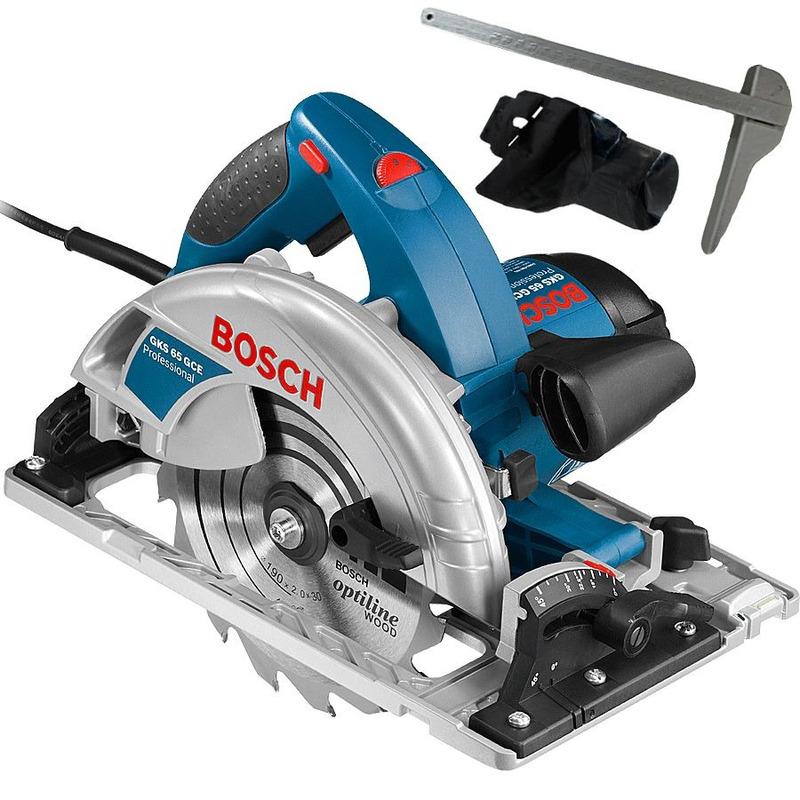"""Serra Circular 7.1/4"""" (184 mm) 1.800 Watts - GKS 65 GCE Bosch - 0.601.668.7E1 - 220 Volts"""
