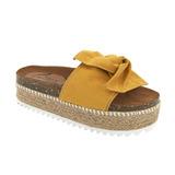Sandalia De Piso Amarilla Con Yute 020075