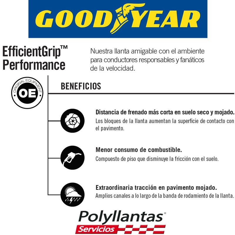 195-50 R15 GOODYEAR EFFICIENTGRIP PERFORMANCE