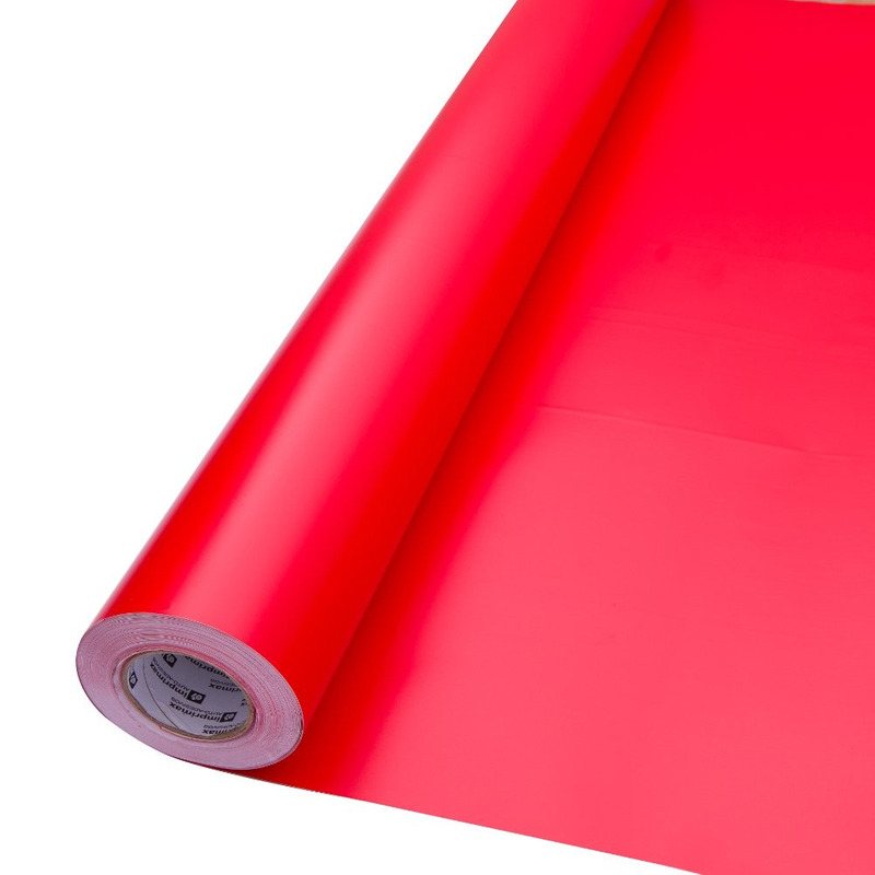 Vinil adesivo maxlux vermelho tomate translúcido larg. 1,22 m