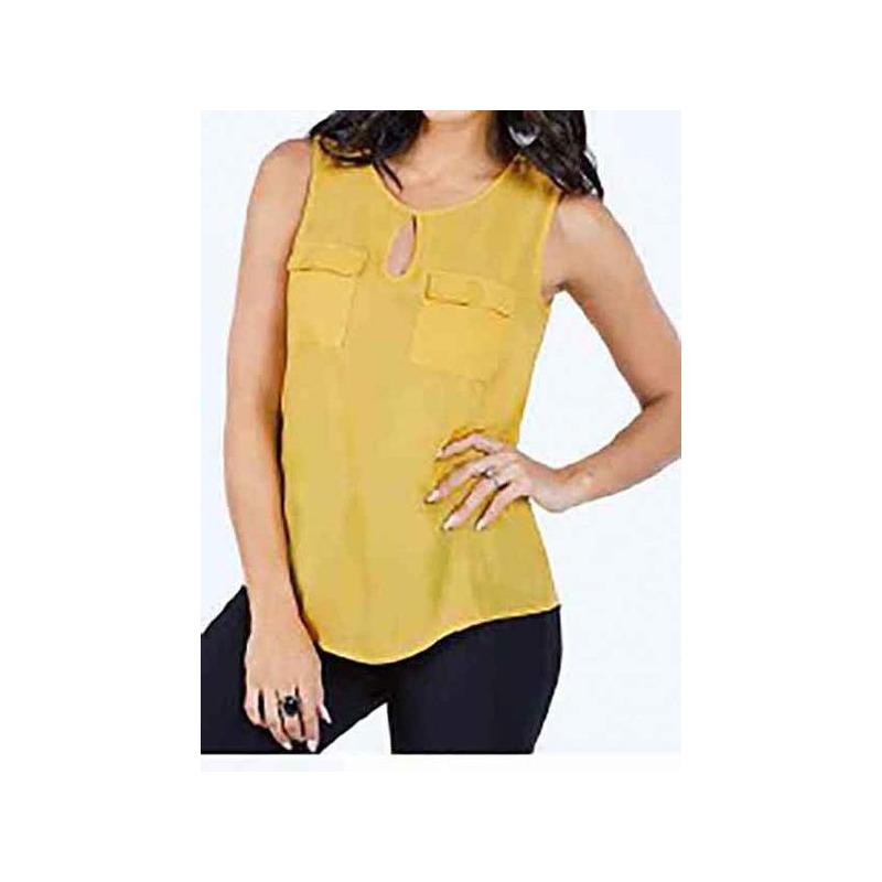 Blusa amarilla estampada 015199