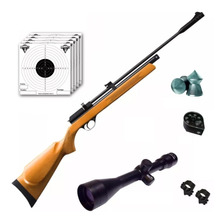 Rifle Aire Comprimido Fox Pcp + Cargador 7 Tiros + Mira 4x40