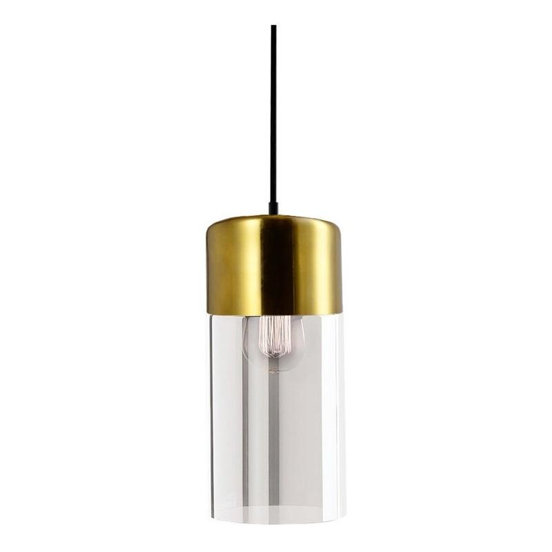 Colgante Cristal Gurion 1 Luz Oro Deco Moderno Apto Led Cie