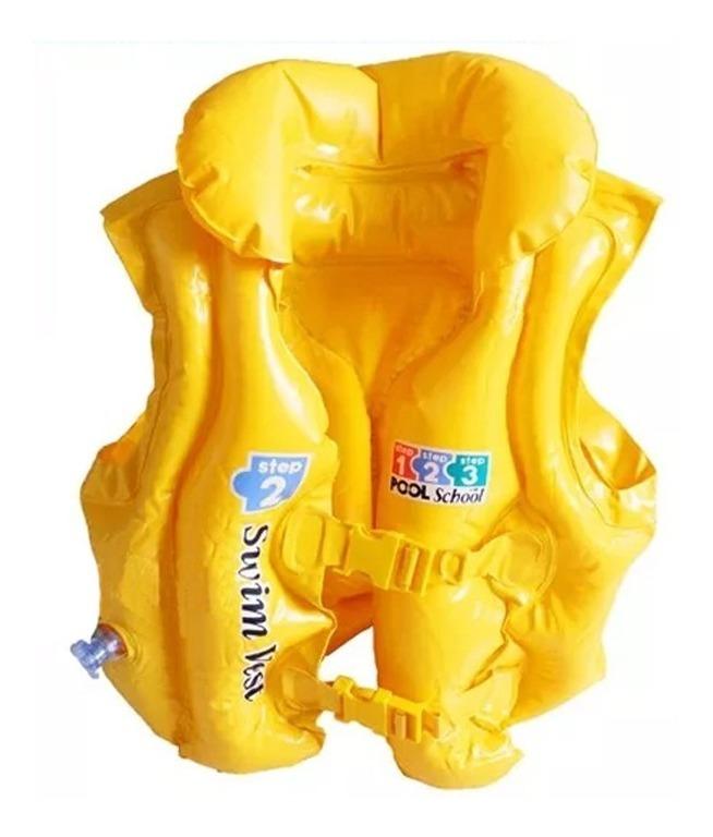 Chaleco Inflable Plastico Para Niños Ajustable Playa Pileta