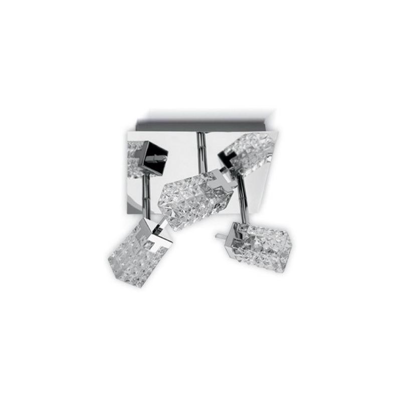 Plafon Prisma Cristal 3 Luces Cuadrado Apto Led G9 Pal