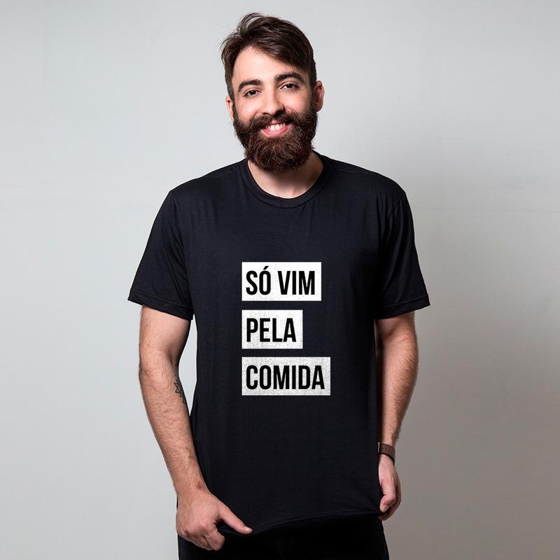 CAMISETA PRETA - COMIDA
