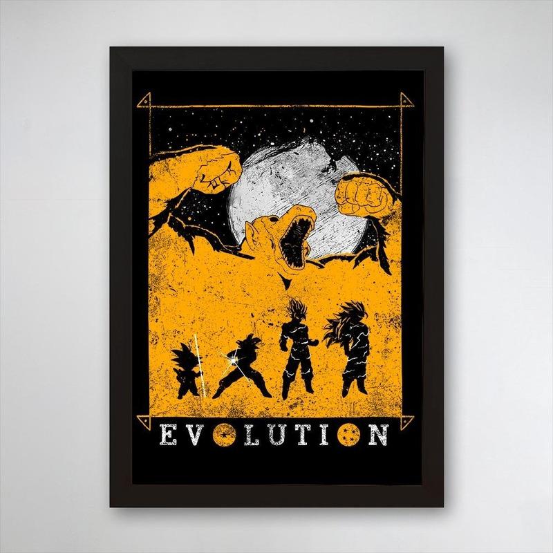 PÔSTER COM MOLDURA - A EVOLUÇÃO