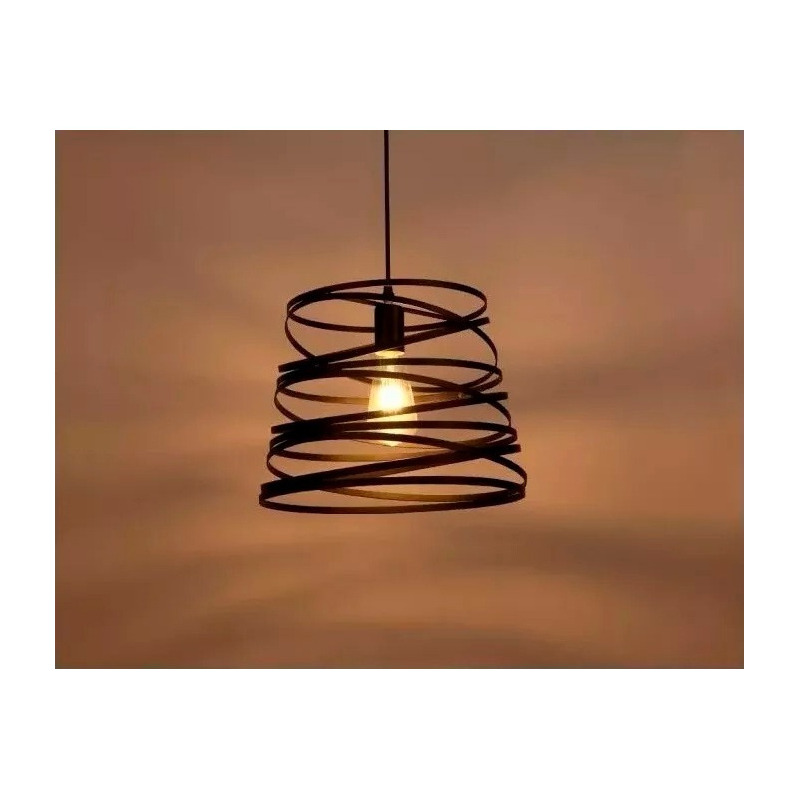 Lámparas Colgantes Modernas Twist Led Negro Cocina Lk Sf