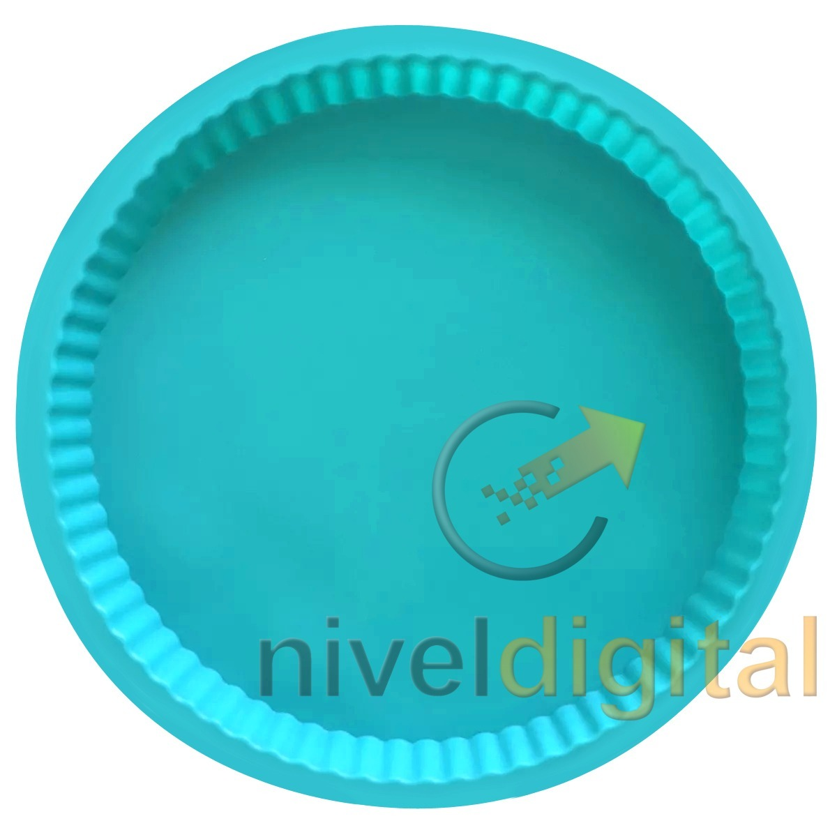 Molde Tartera Acanalada Silicona 24 5. Cm. Horno Tarta Torta