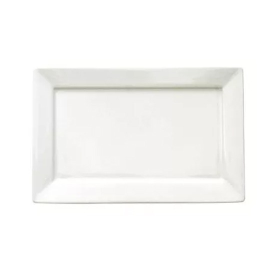 6 Platos 25x16 Bandeja Rectangular Porcelana Blanca Oxford