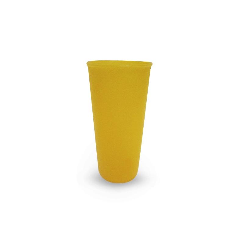 Vaso Transparente Color Naranja 16 Oz. Plastico  Modelo:  1489102