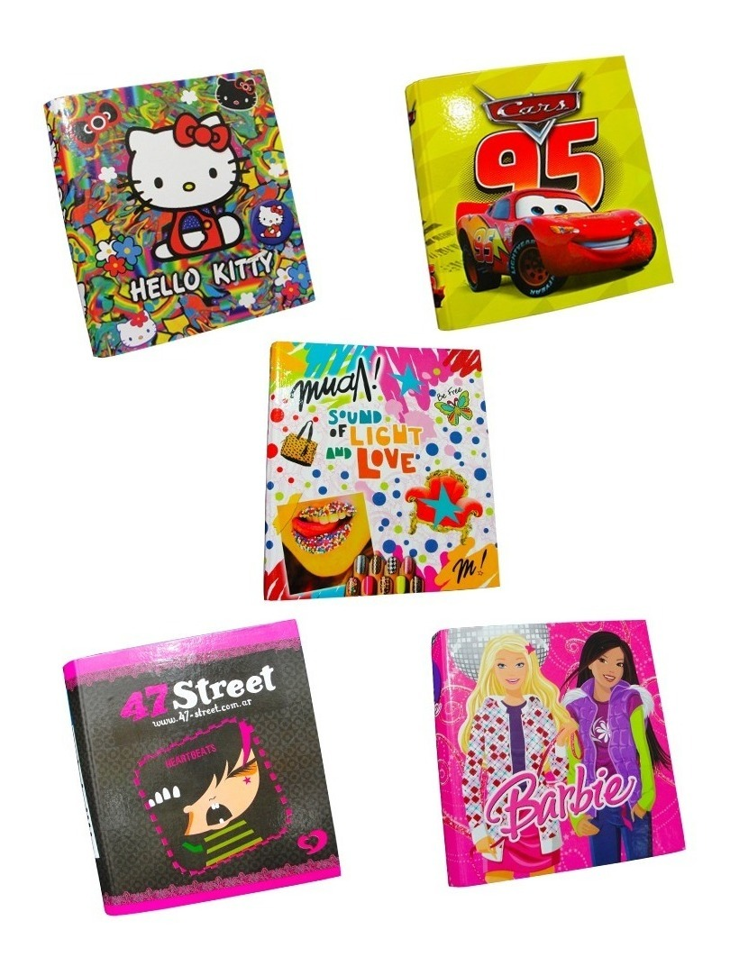 Carpeta Nº3 Escolar Anillo Hello Kitty Cars Barbie 47 Street