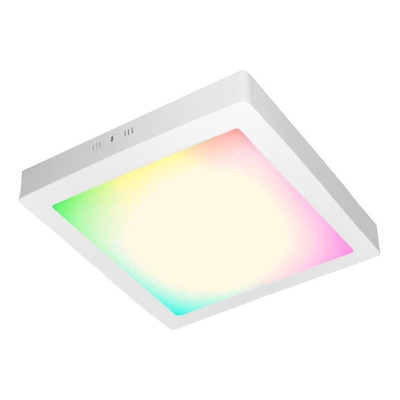 Plafon Led Inteligente Smart Blanco 24w Rgb Dimer Moderno