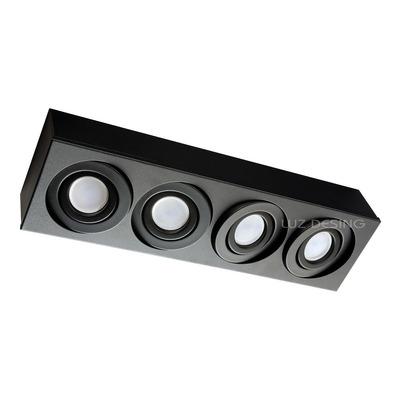 Plafon 4 Luces Cardanico Negro Lineal Apto Led Gam 4814