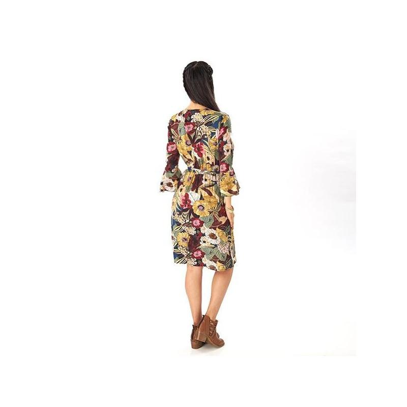 Vestido corto con estampado 019197