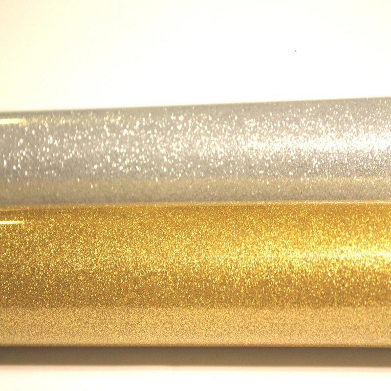 Filme para estampa em PU gliter prata larg. 0,50 m