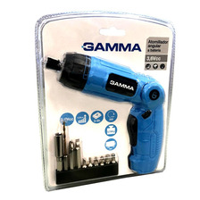 Destornillador Articulado A Bateria Gamma Linterna+10puntas