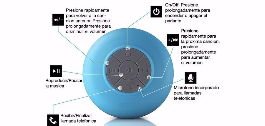 Parlante Portatil Bluetooth Ducha Sopapa Agua Kelyx