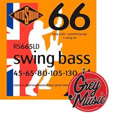 Encordado Rotosound Rs665ld Para Bajo 5 Cuerdas 45-130