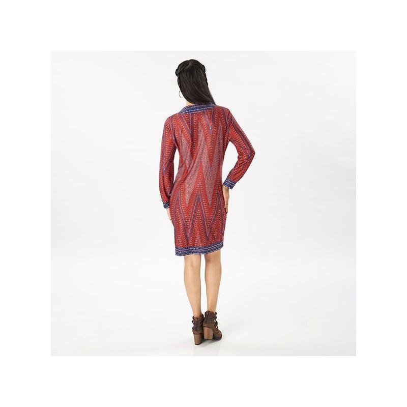 Vestido corto estampado 019117