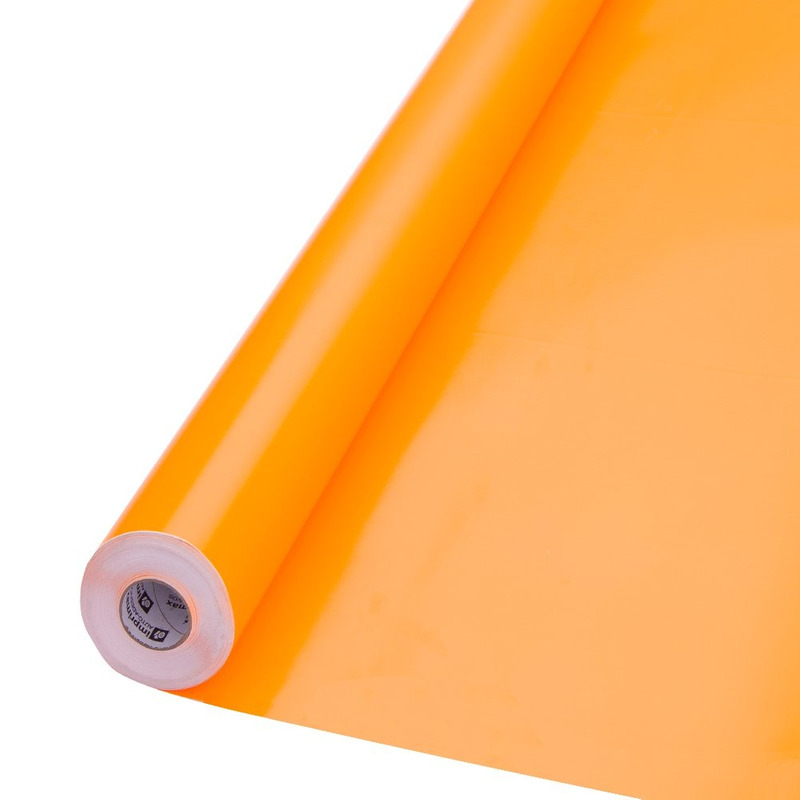 Vinil adesivo colormax fluorescente laranja larg. 1,0 m