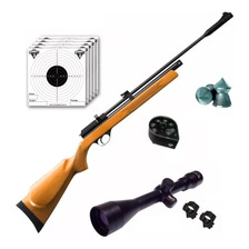 Rifle Aire Comprimido Fox Pcp + Cargador 7 Tiros + Mira Zoom