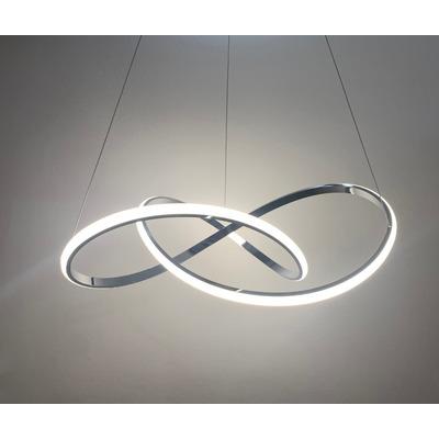 Lampara Colgante Moderno Led Diseño 61w Cromo L2020