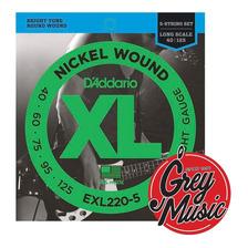 Encordado Daddario Exl220-5 Para Bajo 040-125 - Grey Music