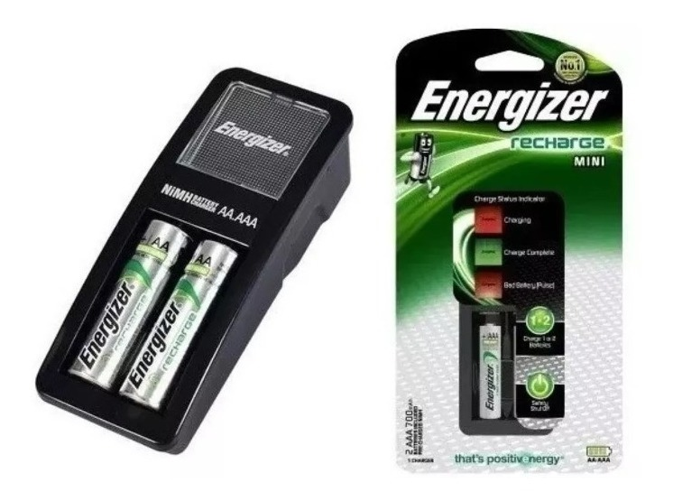 Cargador Energizer Recharge Aa/aaa Mini 2 Pilas Incluidas