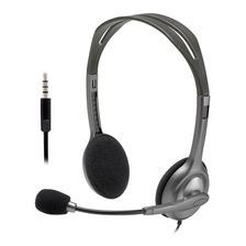 Auriculares Headset Logitech H111 Skype Microfono Miniplug 3.5mm Gtia Oficial