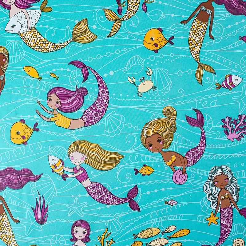 Tecido corino sereias - Larg. 1,40 m