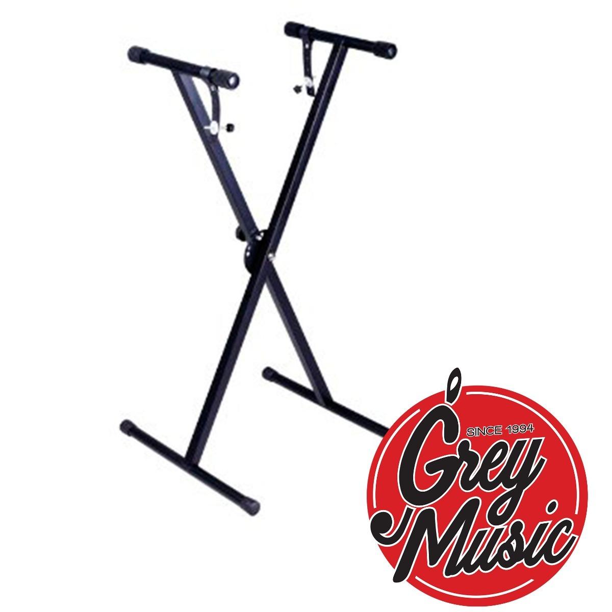 Soporte Reforzado Para Teclado Simple Gms Sts - Grey Music-