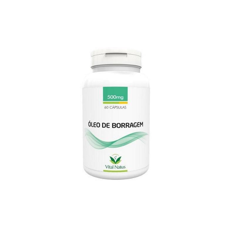 Oleo de Borragem - 60 capsulas 500mg - Vital Natus