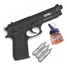 Pistola Co2 Swiss Arms P92 Full Metal Balines Garrafas