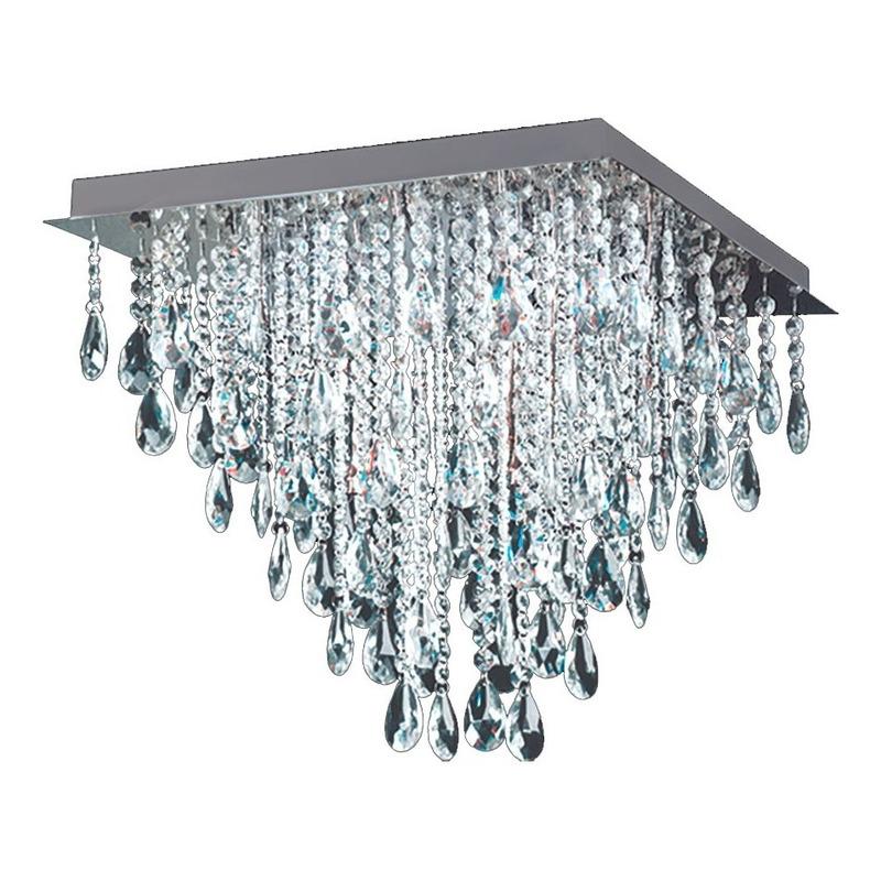 Plafon Almendra Cairel 50x50 8 Luces Led Incluido Luz Desing