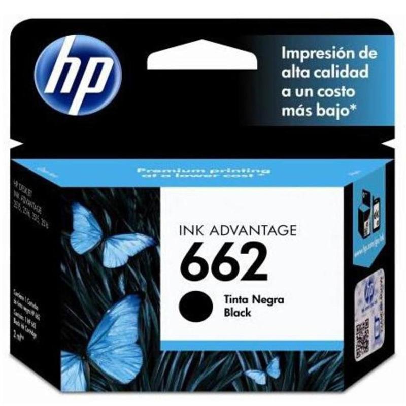 Cartucho De Tinta Negro HP 662