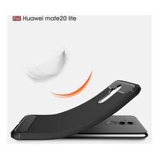 Funda Tpu Simil Carbono Huawei Mate 20 Lite Pro + Glass 3d