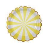 Platos Stripe Amarillos chicos