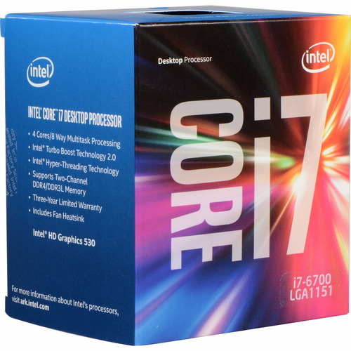 Micro Intel Core I7 6700 4.0ghz 8mb Skyline Socket 1151 Hd