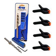Sistema De Ensamblaje Kreg Jig Mini Mkjkit + 4 Clamps 3 Pulg