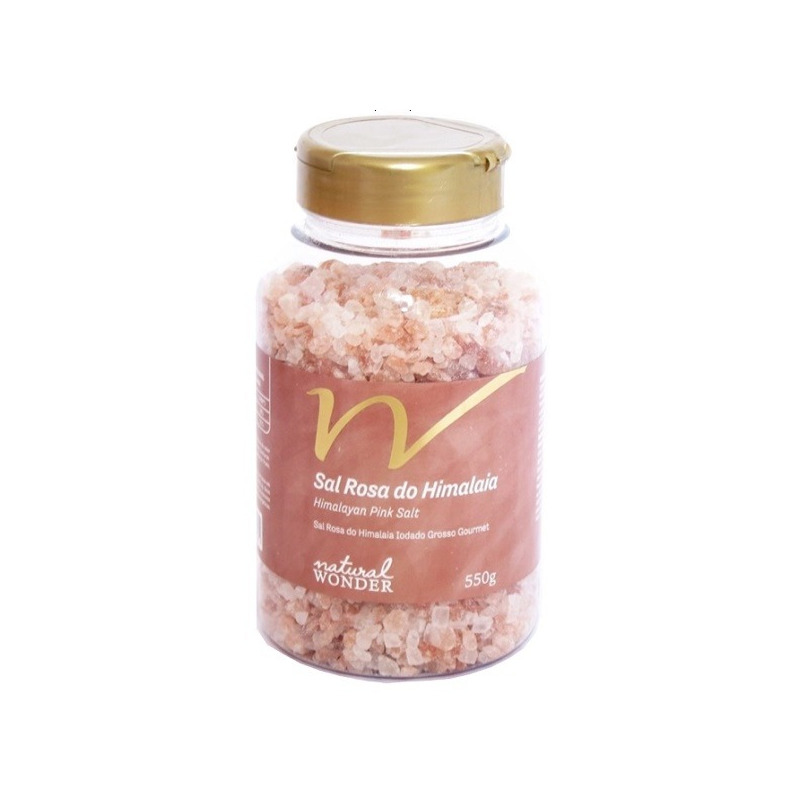 Sal Rosa do Himalaia Grosso Pote 550g - Natural Wonder
