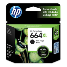 Cartucho Hp 664 Xl Negro Original P/ 2135 3775 3785