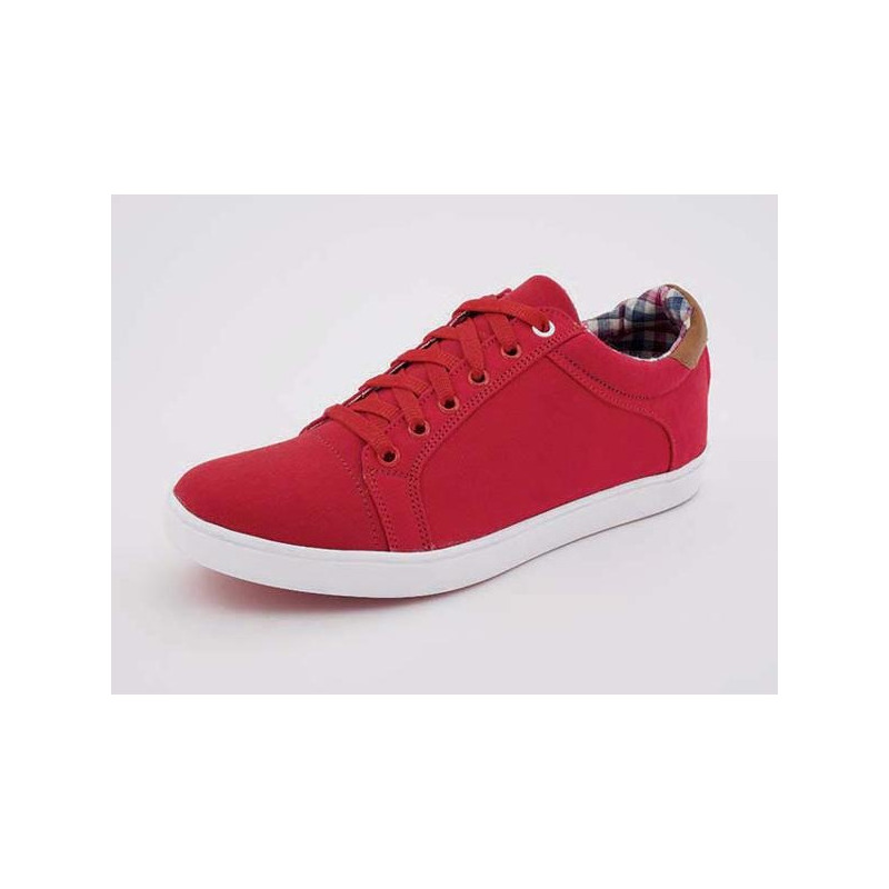 Sneakers rojos talón café 018324